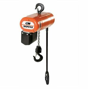 Cmco Shopstar Electric Chain Hoist 300 Lb Single Speed 16 Fpm 3 Phase