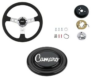 Grant Collector s Steering Wheel installation Kit black Horn Button For Camaro
