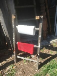 Vintage Wood Ladder 3ft Rustic Paper Towel Holder Kitchen Primitive