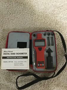 Snap On Blue Point Dual Function Digital Hand Tachometer Model Mt139