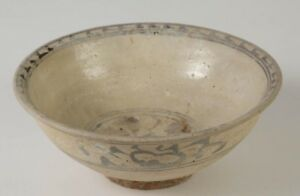 China Chinese Cizhou Glazed Decorated Ceramic Bowl Yuan Dynasty Ca 13th C