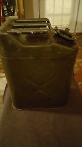 Vintage 1951 Us Military 5 Gallon Jerry Gas Fuel Can all Original