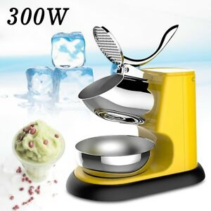 300w Commercial Electric Ice Crushing Machine Shaver Snow Cone Ice Maker Au Plug