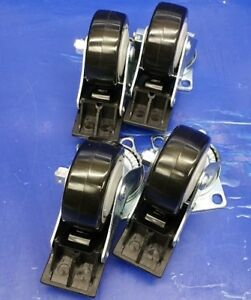 lot Of 4 We re Always Around Caster Swivel Wheels 3 With Breaks
