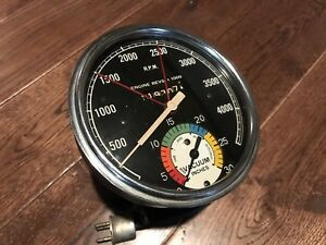 5 Stewart Warner 6 Volt Electric Vac Tach Vacuum And Tachometer Vintage Gauge