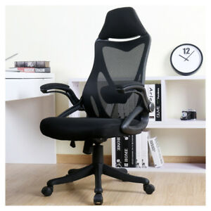 High Back Mesh Office Chair With Adjustable Armrest Lumbar Support Headrest