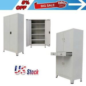 Locking Office Cabinet With 2 Doors 4 Doors Steel Filing Storage With Drawer