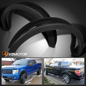 2009 2014 Ford F150 4pc Factory Style Matte Black Wheel Cover Fender Flares