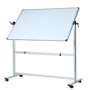 Double sided Magnetic Mobile Whiteboard Aluminium Frame And Stand