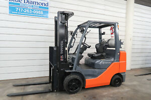 2013 Toyota 8fgcu30 6 000 Cushion Tire Forklift Triple 3 Way Sideshift