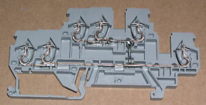 Wago 3 Conductor Double deck Terminal Block 870 538 Lot Of 25