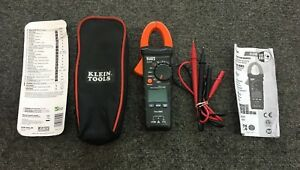 Klein Tools 400a Ac Auto ranging True Rms Digital Clamp Meter leads case manual