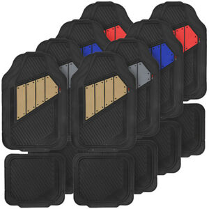 Sporty Durable 2 Tone All Weather Odorless Car Floor Mats For Front