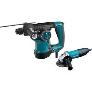 Makita Tools 1 1 8 Sds plus Bit Rotary Hammer W 4 1 2 Angle Grinder open Box