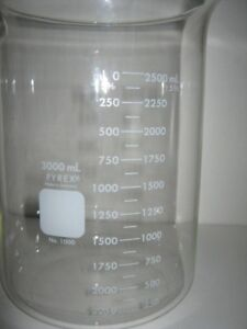 Pyrex No 1000 Germany 3000ml Beaker 250ml Graduations 12 Pictures