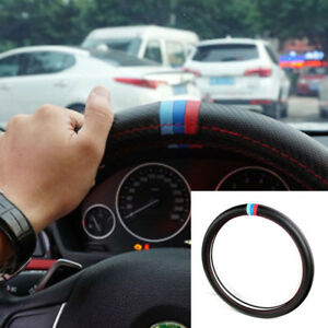 38cm Carbon Fiber Look Car Suv Steering Wheel Cover Pu Leather For Bmw Durable