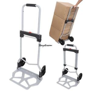 Portable Stair Climbing Folding Cart Climb Hand Truck Dolly With Backup Wheels