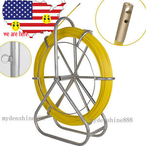 Us Sale Strong Fishtape Fiberglass Wire Cable Running Rod Duct Rodder Puller 6mm