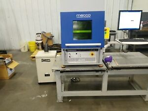 Mecco 50 Watt Industrial Fiber Laser With Enclosure And Dust Collector