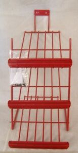 Store Fixture Supplies New 3 Level Counter Top Display Rack Red 19 Tall