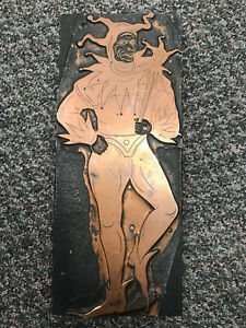 Antique Jester Large Printing Block Newspaper Cut