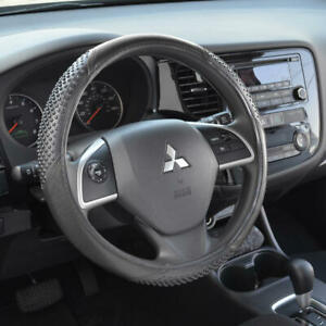 Maxgrip Odorless Synthetic Leather Steering Wheel Cover Fits Ford Mustang black