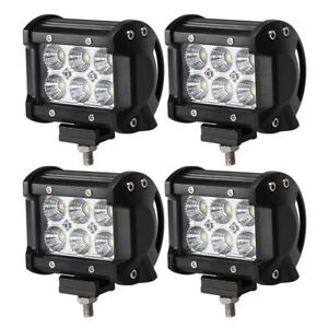 4pcs 4 Inch 18w Led Spot Beam Cube Cree Fog Work Lights Pods Off Road Suv Atv