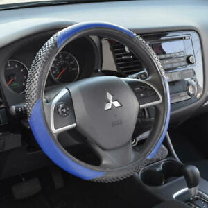 Blue 100 Odorless Synthetic Leather Steering Wheel Cover Fits Ford Mustang