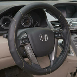 Motor Trend Pu Leather Stitched Steering Wheel Cover Fits Honda Cr V Beige