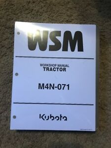 Kubota M4n 071 Tractor Workshop Manual