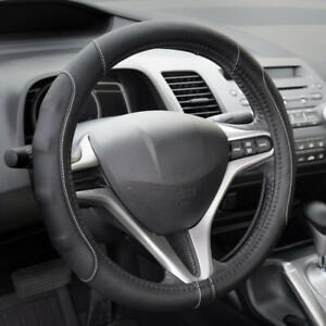 Soft Smooth Pu Leather Steering Wheel Cover For Audi A4 2013 2015 Gray
