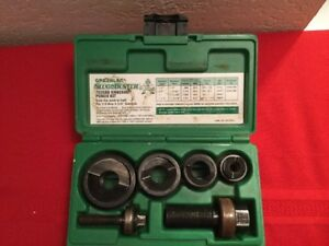 Greenlee Slugbuster K o Punch Set 7235 Bb 1 2 To 1 1 4