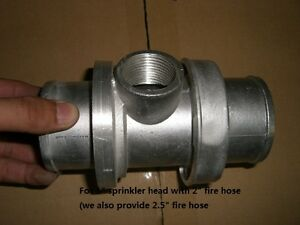 1 Sprinkler Head Connector With 2 1 2 Fire Hose