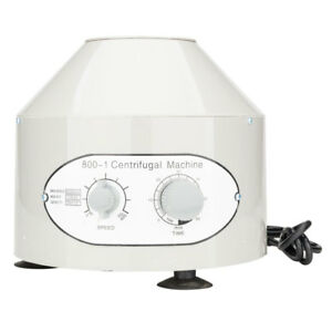 Electric Centrifuge Machine Lab Laboratory Medical Practice 800 1 6x 20ml Rotor