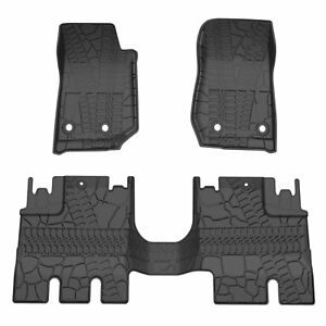 Fit For 2007 2018 Jeep Wrangler Jk 4 Door Unlimited Slush Floor Mats All Weather