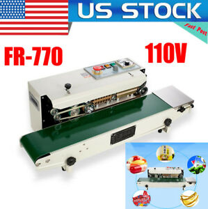 Fr 770 Vertical Continuous Band Bag Sealer Plastic Bag Sealing Machine