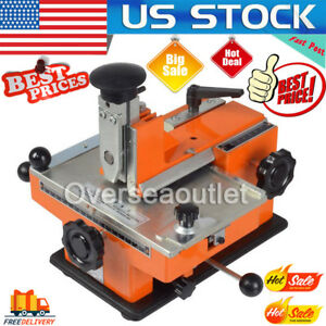 5mm Semi automatic Sheet Embosser Metal Stamping Printer Marking Machine Label