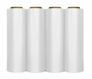 Cast Hand Stretch Wrap Plastic Shrink Film Clear 18 X 1500 80 Gauge 12 Rolls