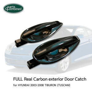 Full Real Carbon Exterior Door Catch For Hyundai 2003 2008 Tiburon Tuscani