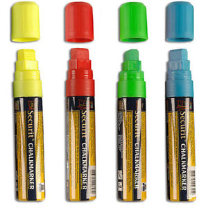 Big Tip Wet Erase Markers In Blue Red Green And Yellow