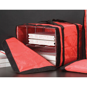 Amer Metalcraft Pb1914 Deluxe Pizza Delivery Bag W rack Holds 6 16 Pizzas