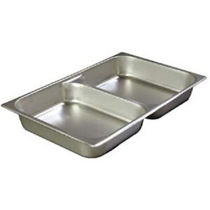Divided Chafer Pan 12 3 4 wx20 3 4 dx2 1 2 h