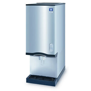 Nugget Ice Maker And Push Button Water Dispenser 20 Lb Bin Storage 42 h