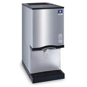 Nugget Ice Maker And Push Button Water Dispenser 12 Lb Bin Storage 35 h