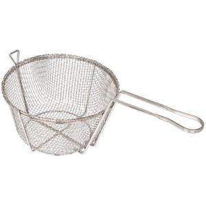 Fry Basket Round Wire 8 1 2 Diameter Coarse Mesh