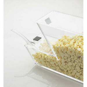 Ice Cream Toppings Bulk Bin Acrylic With Magnetic Notched Lid For Spoon