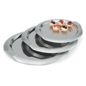 Stainless Serving Tray 16 diam Round