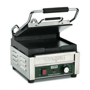 Panini Grill Cast Iron 9 3 4 wx9 1 2 d Cooking Surface Smooth Plates