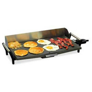 Commercial Griddle Portable Electric 21 wx12 1 2 dx5 1 2 h Overall