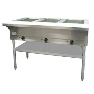 Value Series St 120 3 Electric Steam Table 3 Wells